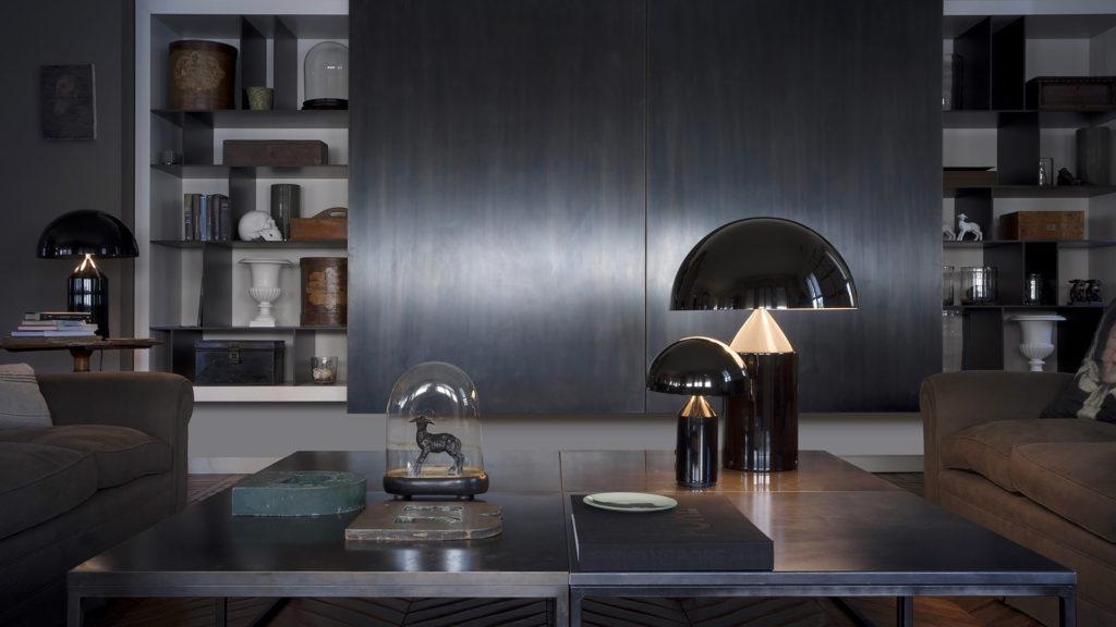 Lampe de table Atollo de Vico Magistretti pour Oluce