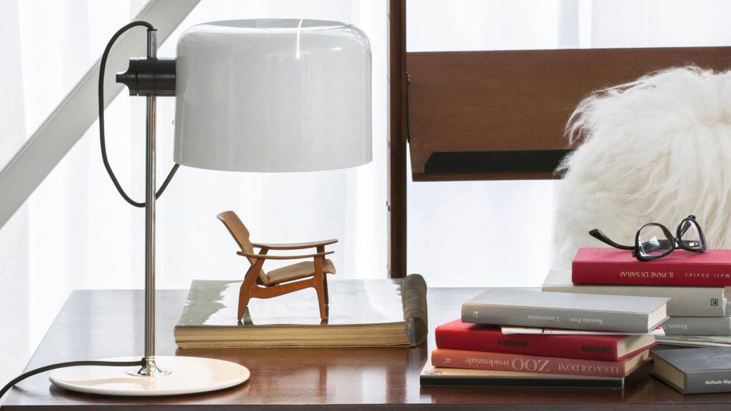 Lampe de table de la série Coupé par Joe Colombo