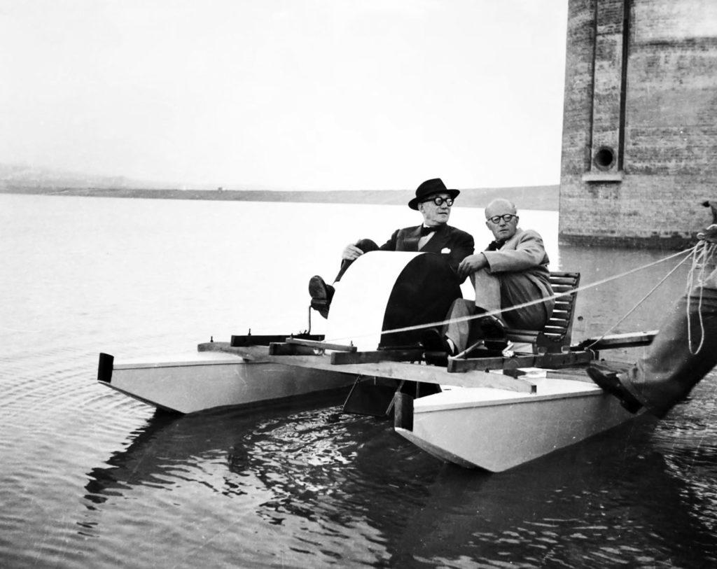 Pierre Jeanneret et son cousin Charles-Edouard Jeanneret, alias Le Corbusier