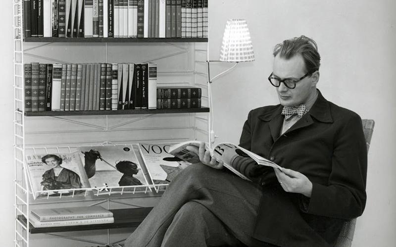 Le designer Nils Strinning et son système d'étager modulaire String Furniture