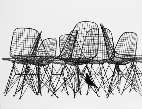 Eames wire chair et Eames house Bird