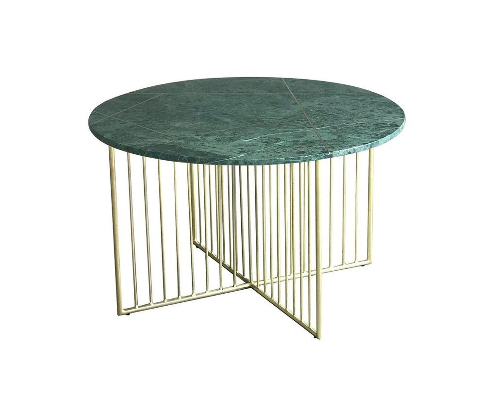 Table-basse-ronde-design-plateau-en-marbre-vert-laiton-Torano