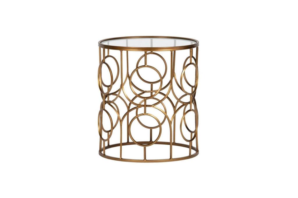 Table-d'appoint-laiton-antique-et-verre-D40-cm-ARTSY